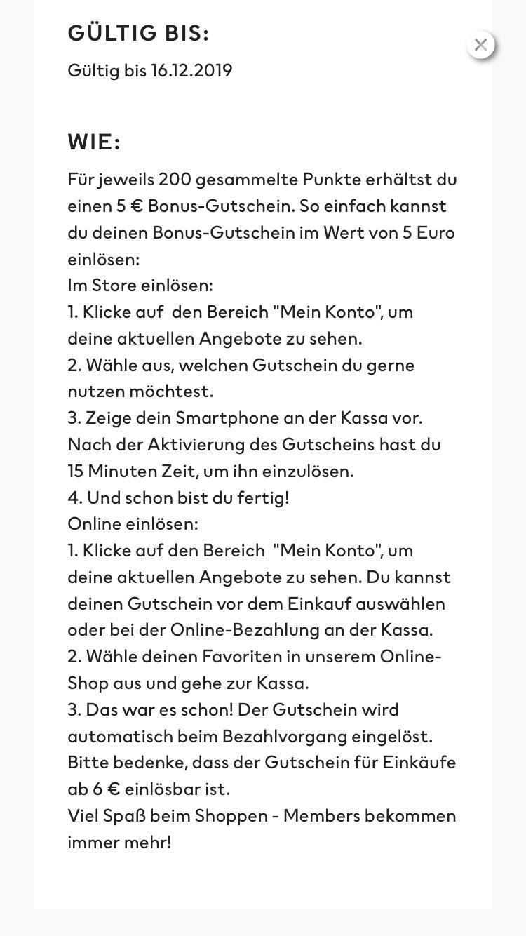 H&M App Gutschein