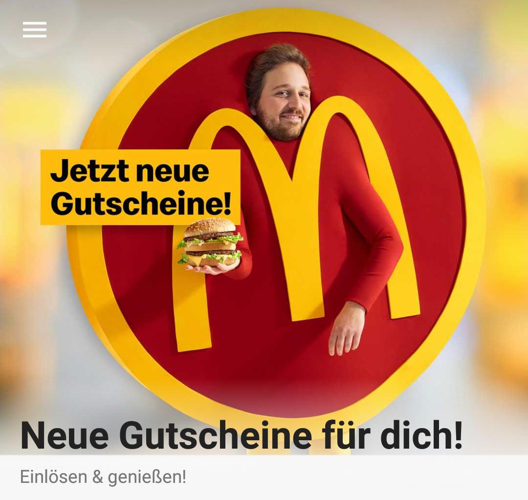 McDonald's - neue Gutscheine in der App