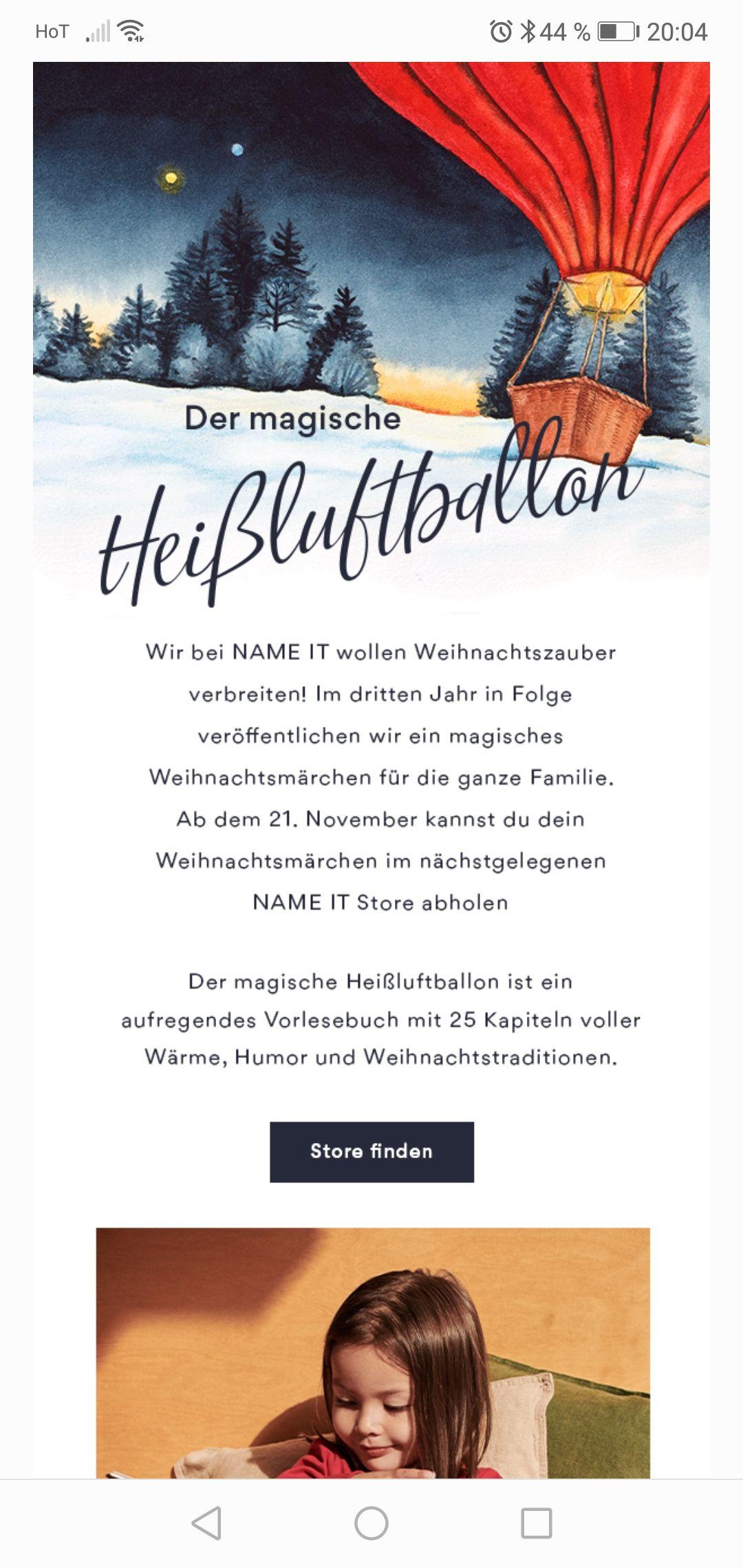 Name it gratis Weihnachts Märchen Buch abholen