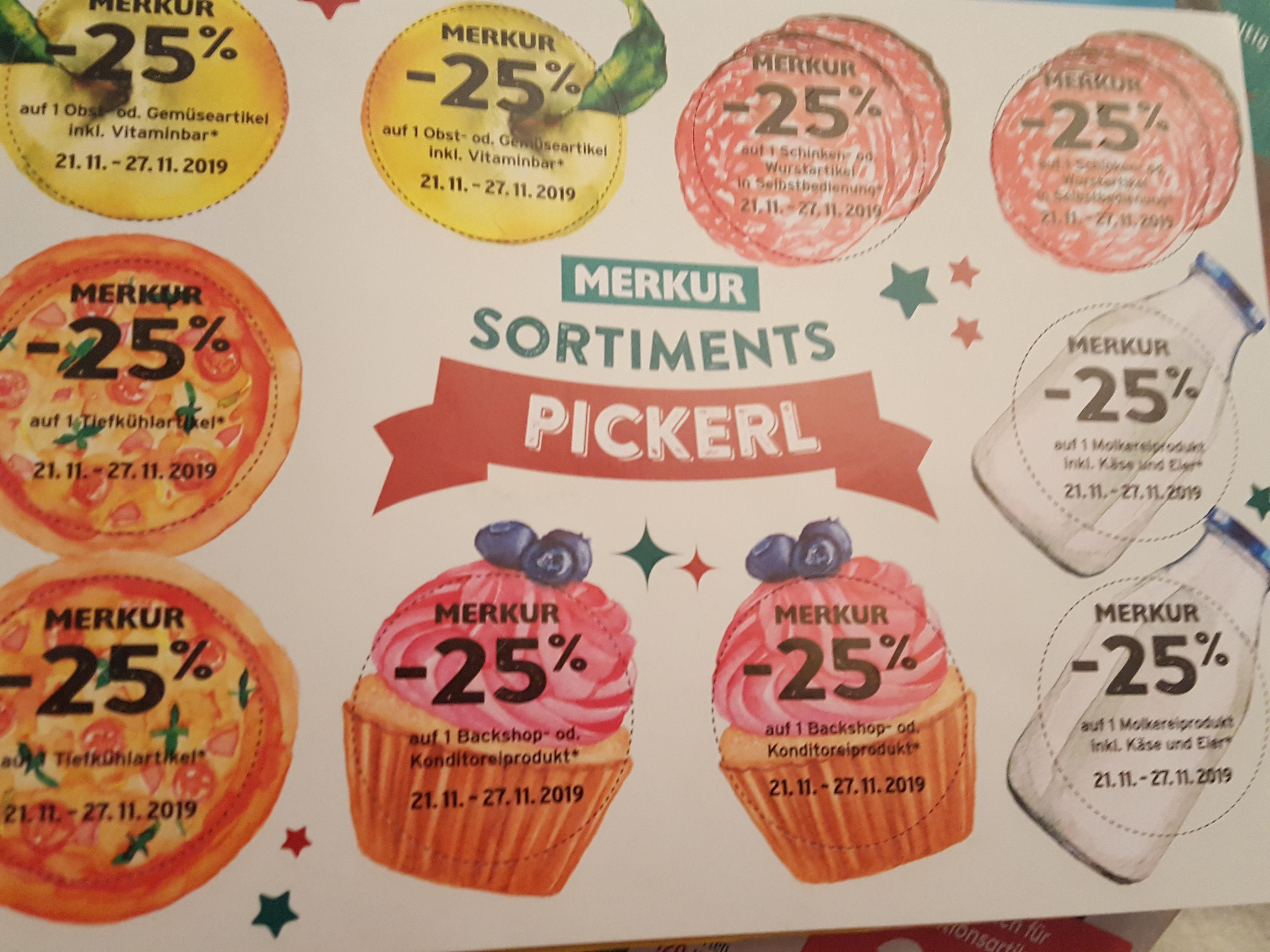 [Merkurmarkt] 10 Rabatt Pickerl -25%