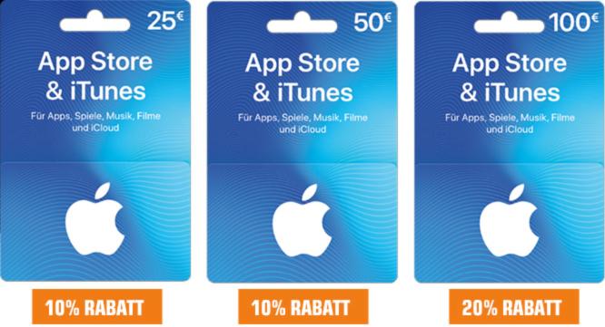 AppStore & iTunes Geschenkkarten