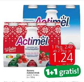 Actimel 1+1 mit Cashback um je 0,74