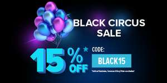 travelcircus.at BLACK CIRCUS SALE mit 15% Extra Rabatt!