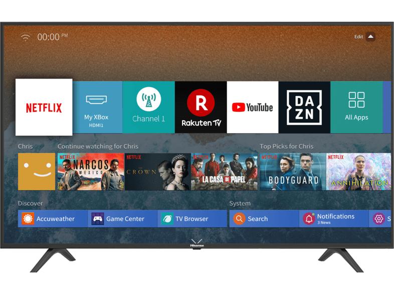 HISENSE Fernseher H43BE7000 43 Zoll 4K UHD Smart TV
