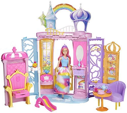 AMAZON.de l Mattel Barbie Dreamtopia Regenbogen-Königreich Schloss und Puppe (FRB15)