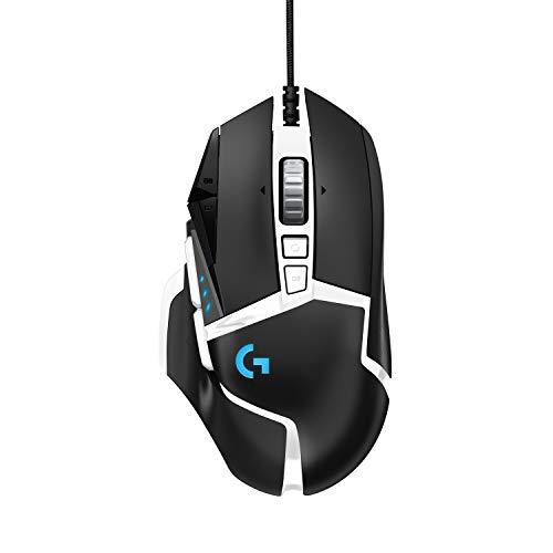 Logitech G502 Gaming Maus (HERO 16000 DPI Sensor, RGB-Beleuchtung, Gewichtstuning, 11 Programmierbare Tasten)