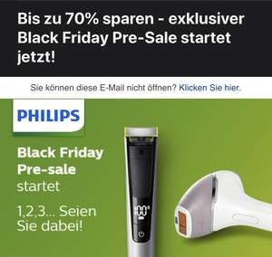 Philips exklusiver Black Friday Pre-Sale startet jetzt!