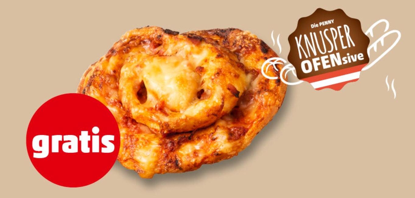 Penny – gratis 1 Pizzaschnecke