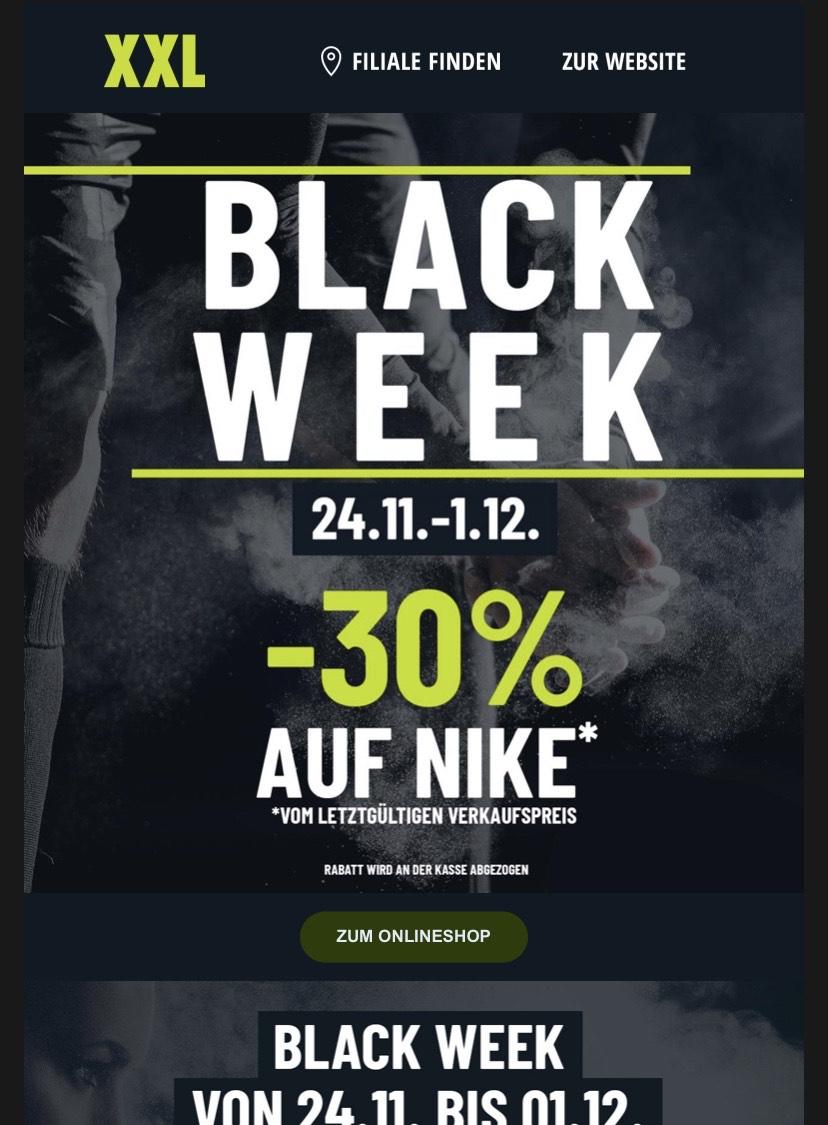 -30% auf Nike (auch auf Sale)