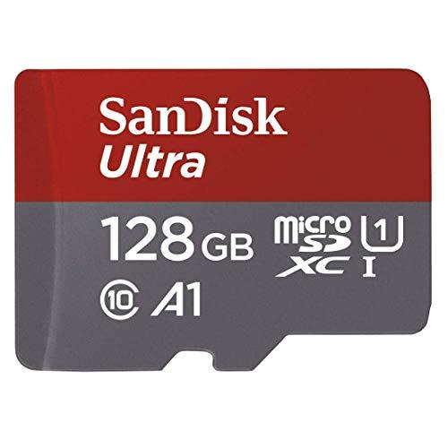 [Amazon] SanDisk Ultra 128GB microSDXC Speicherkarte + Adapter bis zu 100 MB/Sek., Class 10, U1, A1 um nur 14,99€