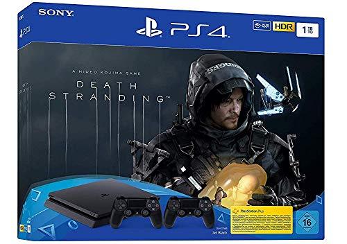 PlayStation 4 Slim (1TB) inkl. ZWEI Controller und Death Stranding