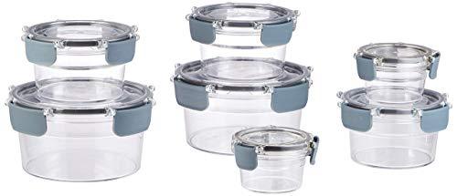 AmazonBasics - Tritan-Frischhaltedose mit Verschluss, 14er-Packung