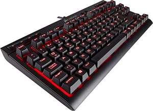Corsair K63 Mechanische Gaming Tastatur Cherry MX red: Leichtgängig und Schnell, Rot LED Beleuchtung, schwarz