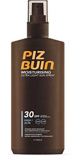 Piz Buin Moisturising Ultra Light Sun Spray LSF 30, Hoher Schutz, Feuchtigkeitsspendendes, schnell einziehendes Sonnenspray, UVA und UVB