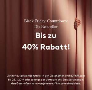 H&M: bis zu -40% (Black Friday Countdown)