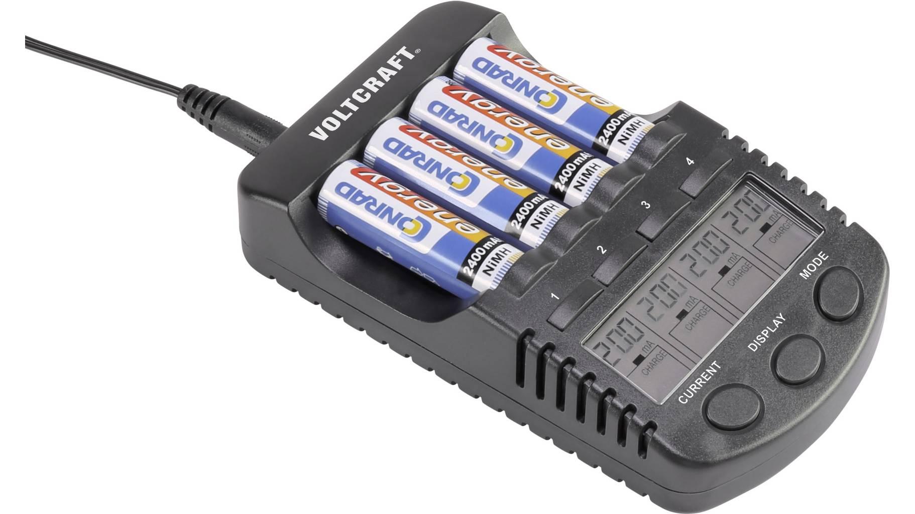 (Händlerdeal) VOLTCRAFT CC-1 Rundzellen-Ladegerät USB NiMH, NiCd Mignon (AA), Micro (AAA)