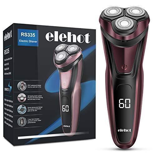 Elektrisch Rasierapparat mit LCD Display Trockenrasierer oder rasieren mit Schaum
