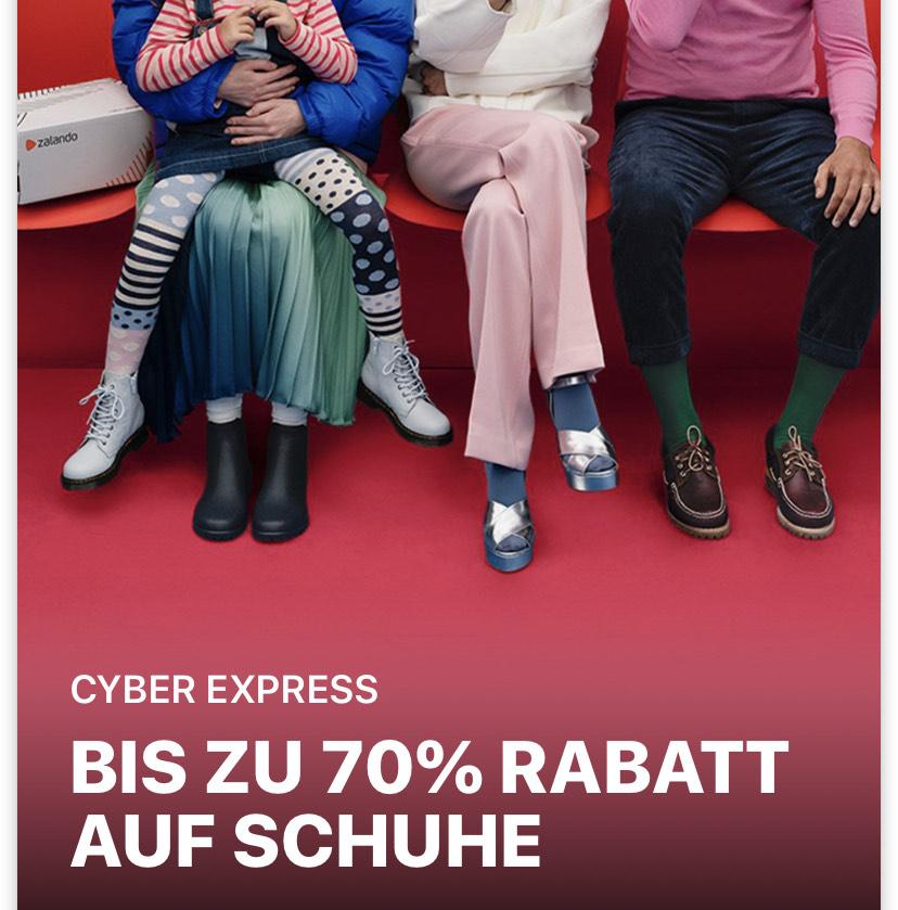 Zalando Cyber Express Aktion bis 70% auf Schuhe nur HEUTE