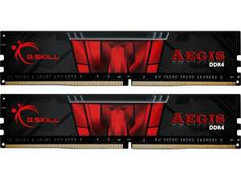 G.SKILL Arbeitsspeicher Aegis DIMM Kit 16GB, DDR4-3200, CL16-18-18-38, Schwarz (F4-3200C16D-16GIS)