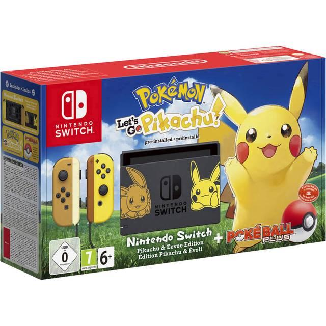 Conrad.at l Nintendo Switch - Pokémon: Let's Go - Pikachu! Bundle schwarz/braun/gelb (2500466)