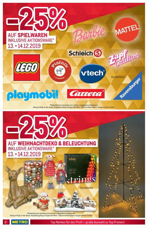 [Metro] NEUER ZEITRAUM 13.12.-14.12. - Sammeldeal gute Lego & Playmobil Deals dank 25% aktion, z.B. Lego Land Rover Defender für 107,10