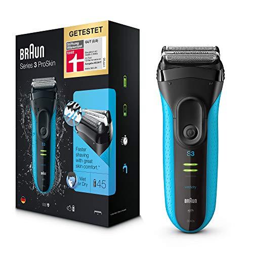 Blitzangebot: Braun Series 3 ProSkin 3040s Elektrorasierer, mit Präzisionstrimmer, wiederaufladbarer und kabelloser Wet&Dry Rasierer Herren