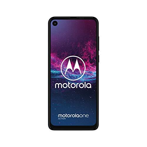 Android One: Motorola One Action Dual-SIM Smartphone (6,3-Zoll-Display, Dreifach-Kamerasystem 12-MP- + 5-MP-Dual-Kamera 128 GB/4 GB)