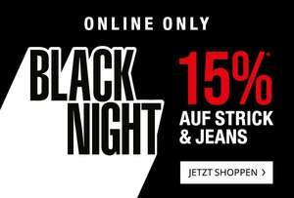 Peek & Cloppenburg 15 % auf Strick und Jeans, ausgewählte Artikel