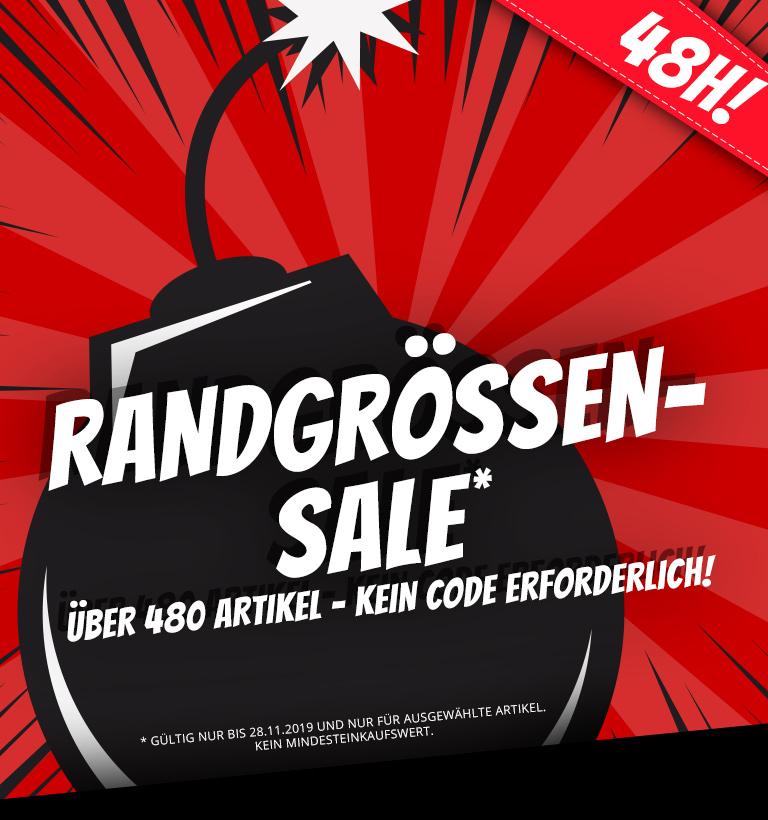 (Händlerdeal) Großer Randgrößen Sale! 66% Extra-Rabatt auf über 480 Angebote!
