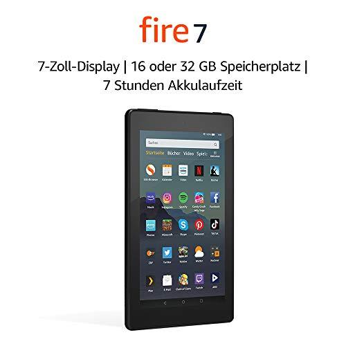 Das neue Fire 7-Tablet (7-Zoll-Display, 16 GB), Schwarz mit/ohne Spezialangeboten