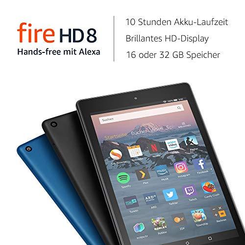 Fire HD 8-Tablet, 16 GB, Schwarz, mit/ohne Spezialangeboten