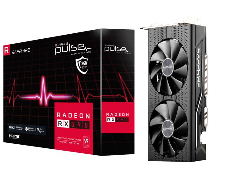 SAPPHIRE Grafikkarte Pulse Radeon RX 590 8G G5, 8GB (11289-06-20G)