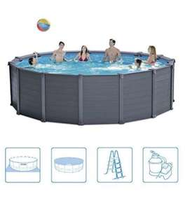 (Amazon Marketplace) Intex Graphite Gray Panel Pool Set, blau/grau