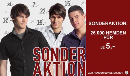 25.000 Hemden für 5€ im C&A Onlineshop