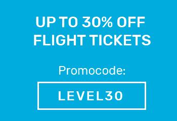Level: bis zu -30 % auf den Flugpreis