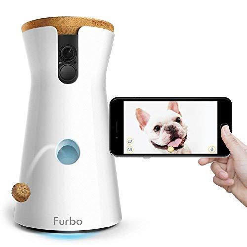 Furbo HUNDEKAMERA: Full HD WiFi Haustierkamera mit Leckerli Ausgabe, 2-Wege-Audio, Nachtsicht und Bell-Alarm (bekannt aus VOX hundkatzemaus