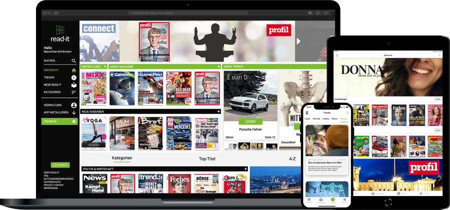 Read-it Magazin-Flatrate für 99 Cent statt 19,99 €