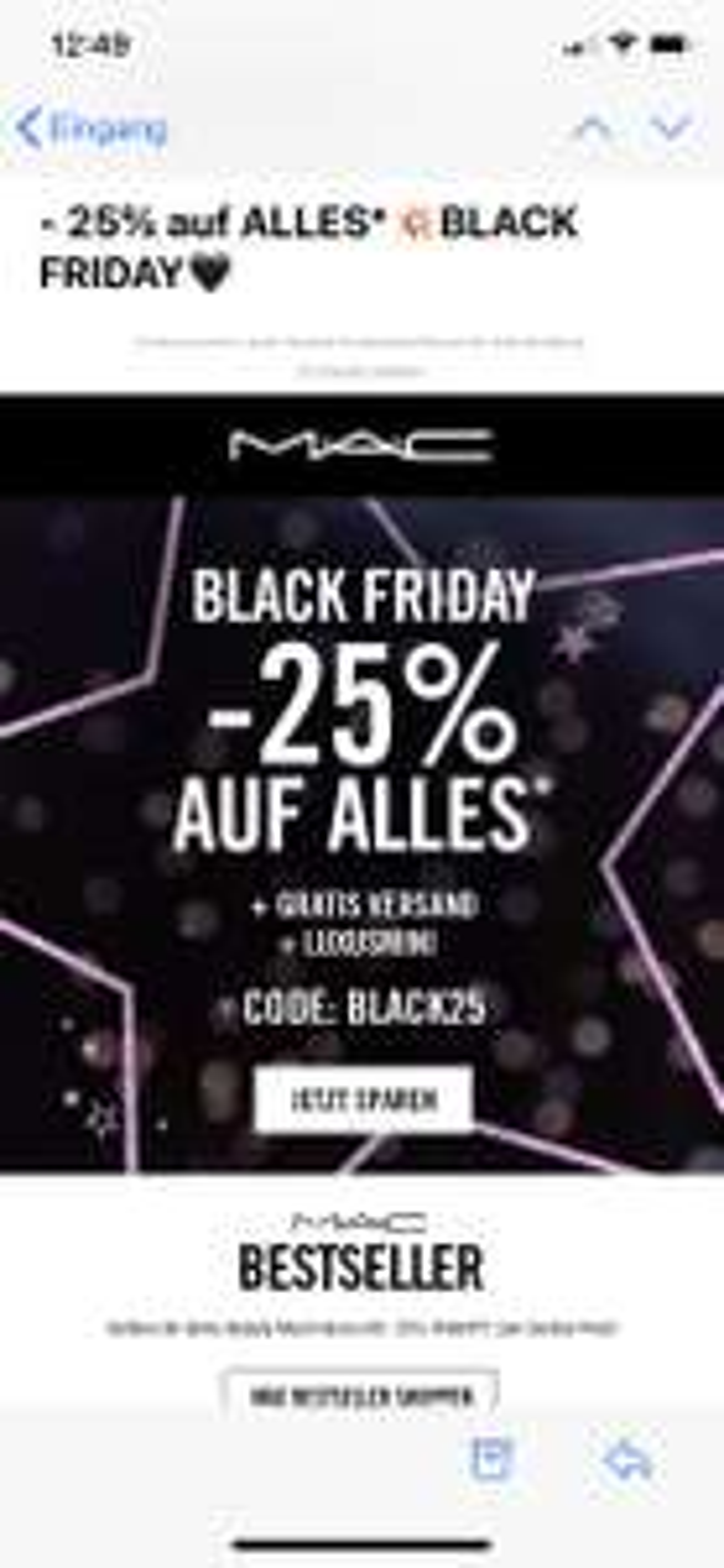 M.A.C -25% auf ALLES