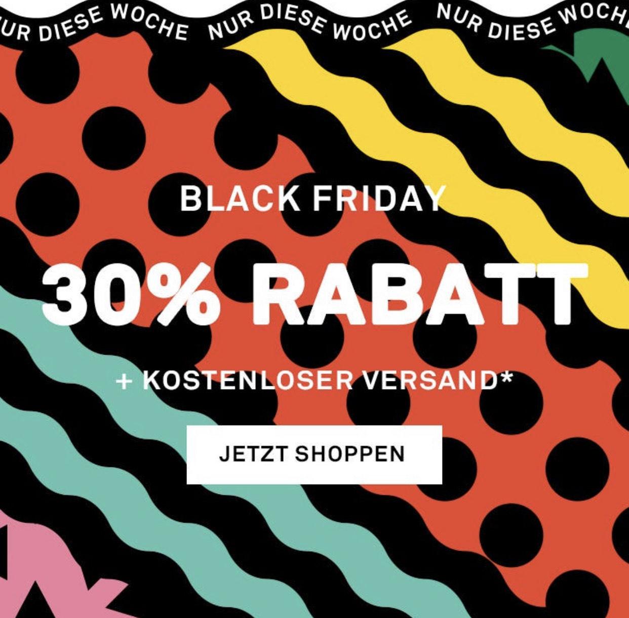 Black Friday by Happy Socks: -30% + kostenl. Versand