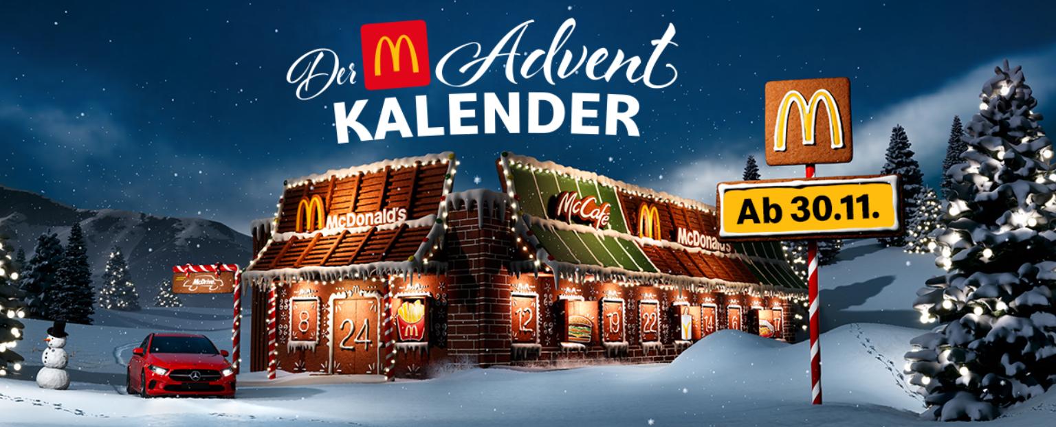 McDonalds Adventkalender - täglich exklusive Angebote und viele Gratis-Produkte