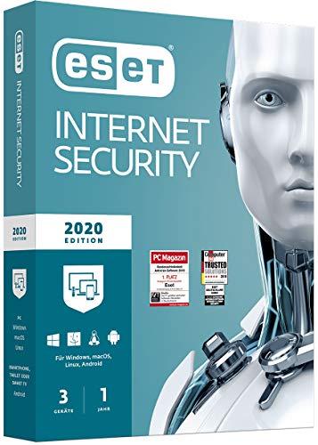 ESET Internet Security 2020 | Für 3 Geräte | 1 Jahr Virenschutz
