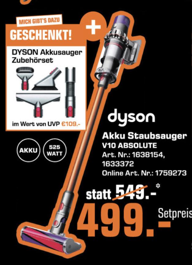 Dyson Akku Staubsauger V10 Absolute+ Zubehör