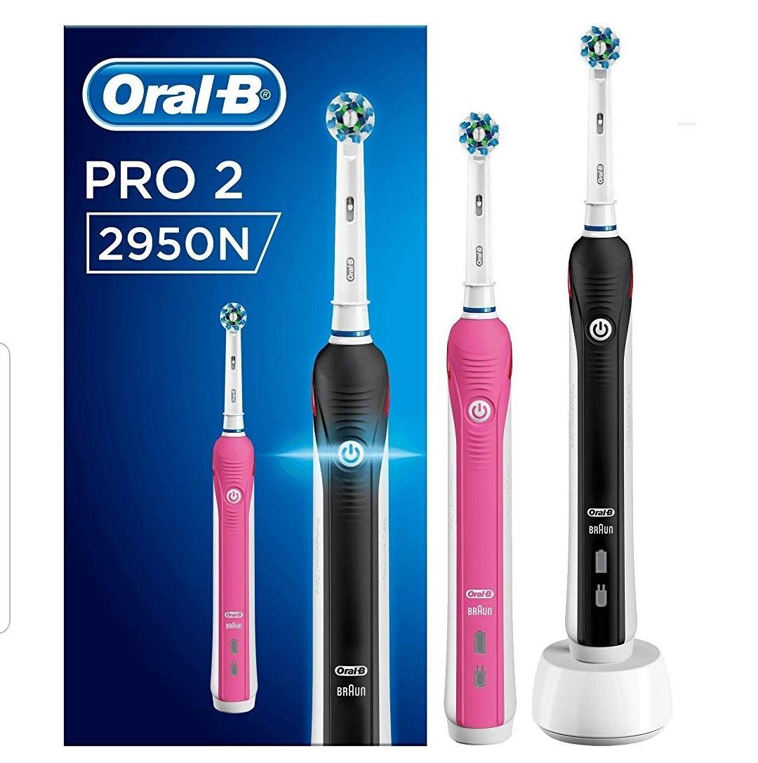 ORAL B elektrisches Zahnbürstenset mit 2. Handstück