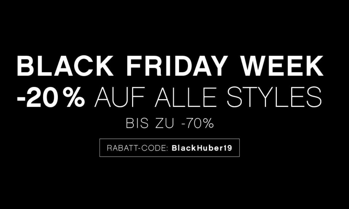 Huber Bodywear: 20% auf alle Styles