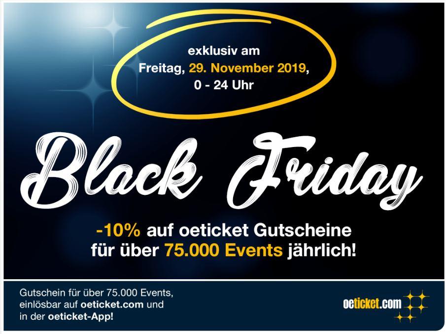 oeticket.com BLACK FRIDAY -10% auf oeticket Gutscheine