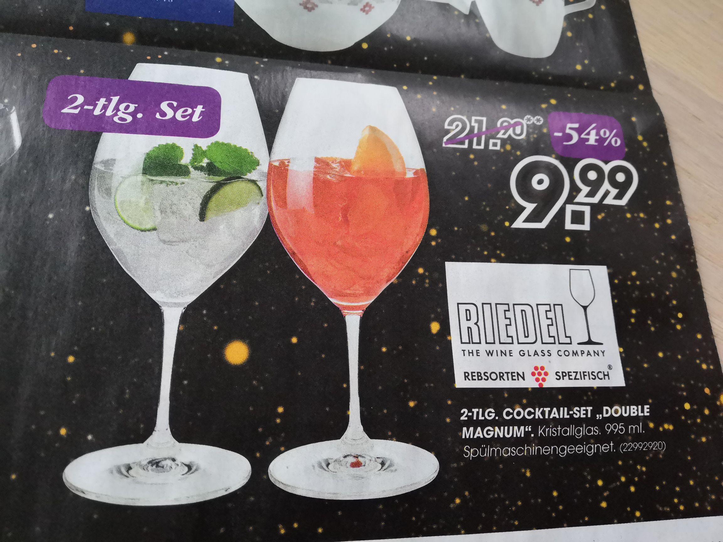 "Leiner: RIEDEL 2tlg. Cocktailset ""Double Magnum"""