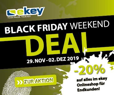 Online Rabatt mit 20% auf alles bei EKEY - Blackfriday Weekend