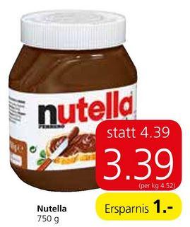 nutella 750g bei Spar - Kombination Aktion und Rabattsticker = absoluter Bestpreis!