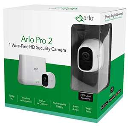 "Netgear ""Arlo Pro 2"" (mit 1 Kamera) Überwachungskamera + Alarmanlage"