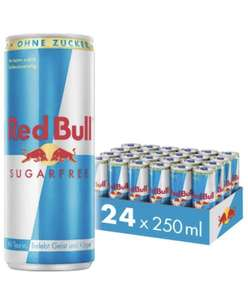 Red Bull + Red Bull sugarfree + Organics (24x250ml) für 82 Cent